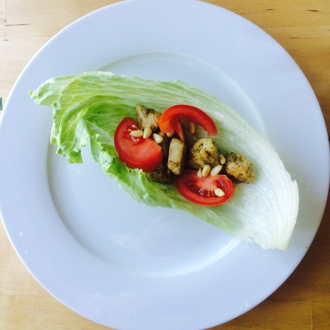 chicken pesto lettuce wrap 2